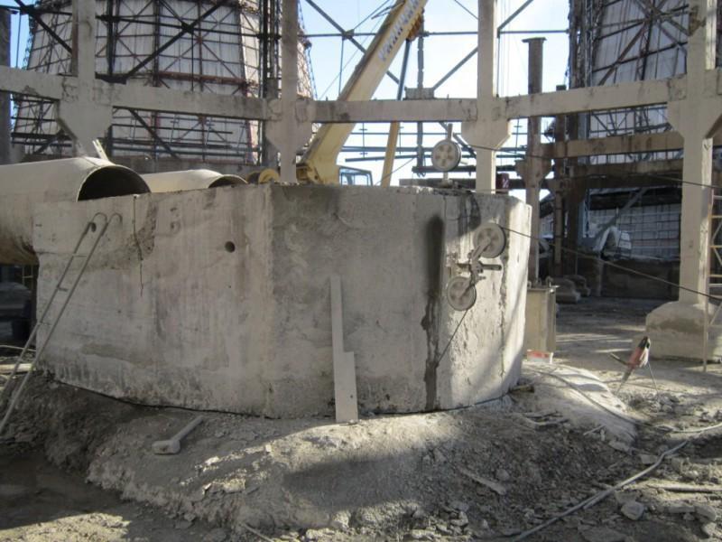 Демонтаж стояка градирни.
